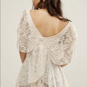 NWT Free People Lace Heatherton Butterfly Blouse